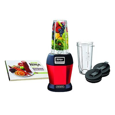 Nutri Ninja BL456 900W Knowledgeable Smoothie Blender with Nutri Ninja Cups, Red