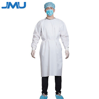 10pcs Reusable Medical Dental Isolation Gown With Knit Cuff Protective Suit
