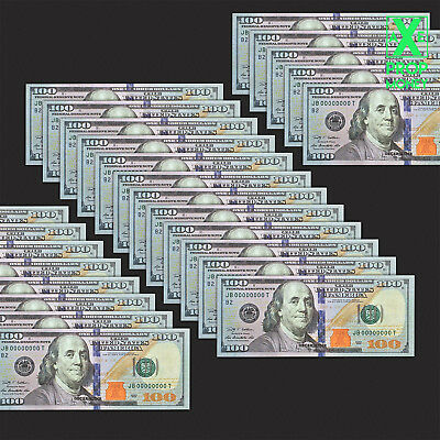 37 Pieces Invalid Funny Fake Training $100 Game Size Paper Money $3.700 Cash UNC