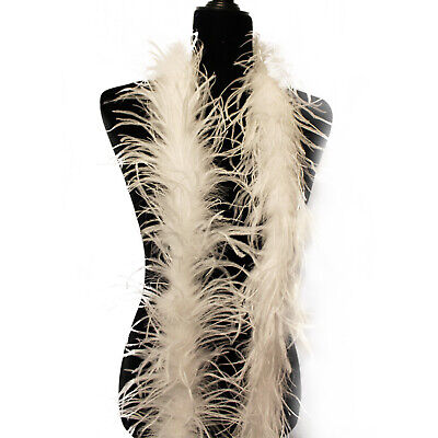 White 1 ply Ostrich Feather Boas, 72