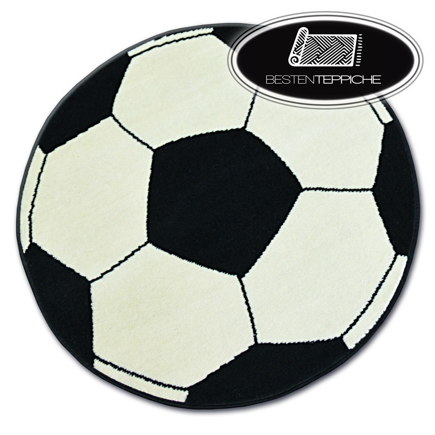 """3 Größen Modernen billig Teppich BCF ball creme Fußball """"BASE"""" besten-teppiche"""