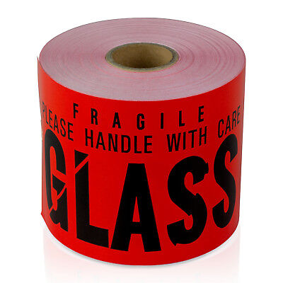 Glass Handle With Care Warning Stickers Fragile Labels 3 X 5 10 Rolls