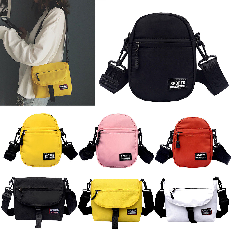 Men Women Nylon Shoulder Bags Messenger Handbag Zipper Cross