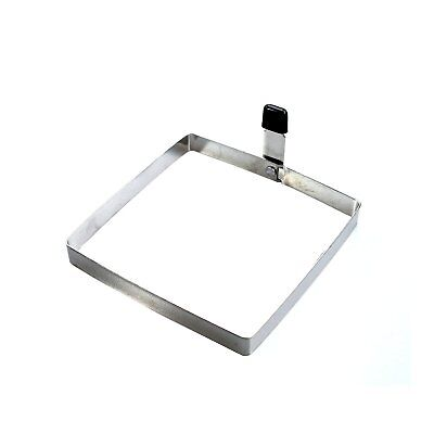 "Egg Frying Mold Square Stainless Steel Folding Handle Toast Making Tool 4"" x 4"""