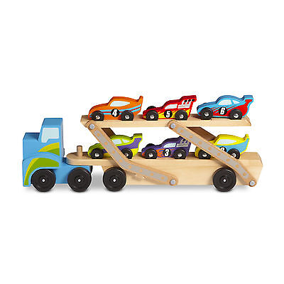 Melissa And Doug Car Carrier (Melissa & Doug Mega Race-Car Carrier #2759 Brand)