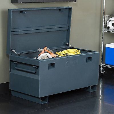 Trinity Job Site Box  36 Inch In Gray With Tamper Proof Locking  Txkpgr 0502 New