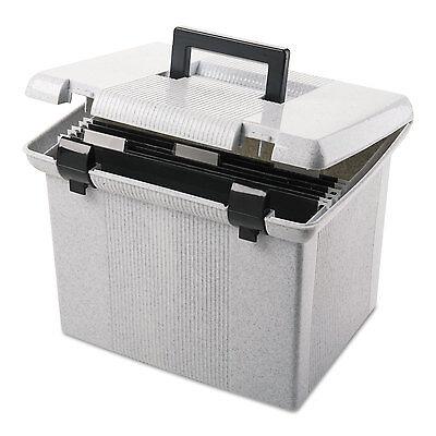 Pendaflex Portafile File Storage Box Letter Plastic 13 7/8 x 14 x 11 1/8 Granite