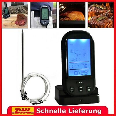 Digital Funk Bratenthermometer Grillthermometer Fleischthermometer BBQ Food DHL