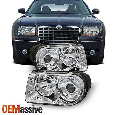 Fits 05-10 Chrysler 300C Replacement Projector Headlights 4805863Ah 4805862Ah