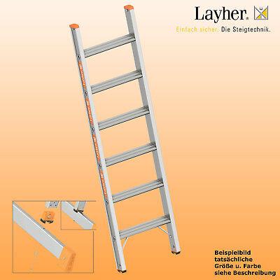 Layher Alu Stufenanlegeleiter,Leiter 6 Stufen m.Traverse, L=1,75m,Topic Typ 1042