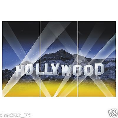 HOLLYWOOD HILLS Movie Night Awards Party Decoration Wall BACKDROP Prop 3pc Set](Awards Night Decorations)
