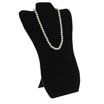 Black Velvet Necklace Chain Jewelry Display Holder Padded Neckform Easel - Padded Necklace Display Easel