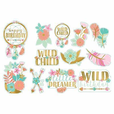 BOHO BIRTHDAY Party Wall Decorations Wild Child Room Decor Flowers Cutouts 1st 1](Boho Birthday Party)