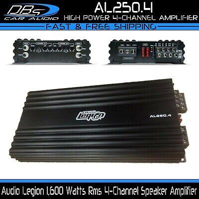 Audio Legion AL250.4 4 Channel Car Stereo Amplifier 1600W True Rms Mids 4ch Amp comprar usado  Enviando para Brazil