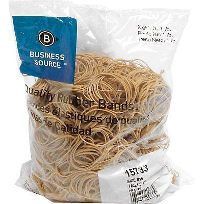 Business Source 15733 Rubber Bandssize 161 Lb.bg2-12 X 116natural Crepe