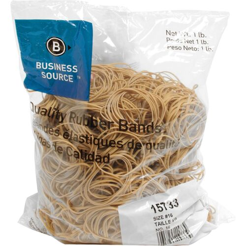 Business Source 15733 Rubber Bands, Size 16,1 lb per Bag, 2-1/2 x 1/16 inches