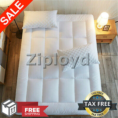 Twin XL Size Memory Foam Mattress Pad Cover Topper Pillow Top Thick Cooling Bed Bedding Twin Extra Long Mattress