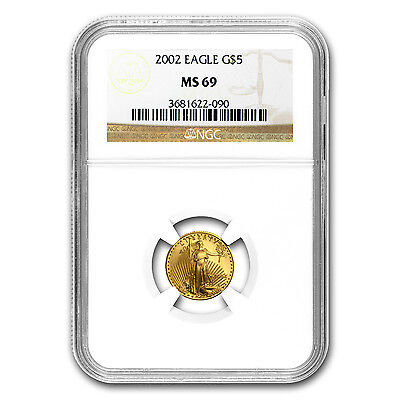 Click now to see the BUY IT NOW Price! 2002 1/10 OZ GOLD AMERICAN EAGLE COIN   MS 69 NGC