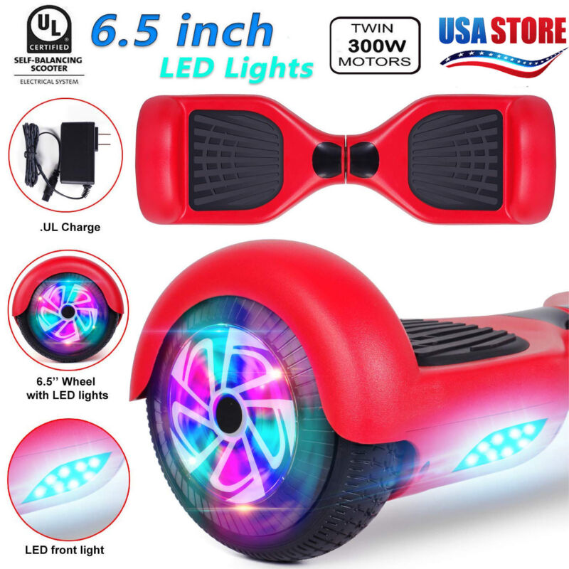 "6.5"" Red Hoverheart UL2272 Chrome Hoverboard electric self b"