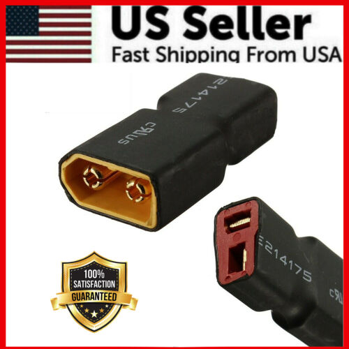RC XT60 Male To Deans Plug Female T Connector Adapter Car Plane Lipo Battery HI