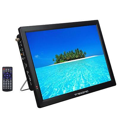 """PORTABLE RECHARGEABLE 14"""" LED DIGITAL TV TELEVISION 12V AC/DC HDMI USB SD REMOTE"""