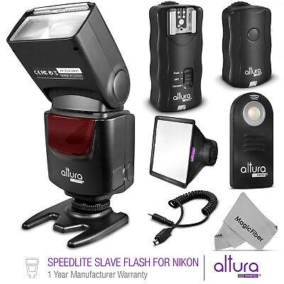Camera Flash - Speedlite Slave Camera Flash + Wireless Trigger Kit for Nikon by Altura Photo®