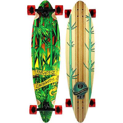 NEW PARADISE Longboard Complete RASTA BAMBOO 3 COMPLETE Skateboard