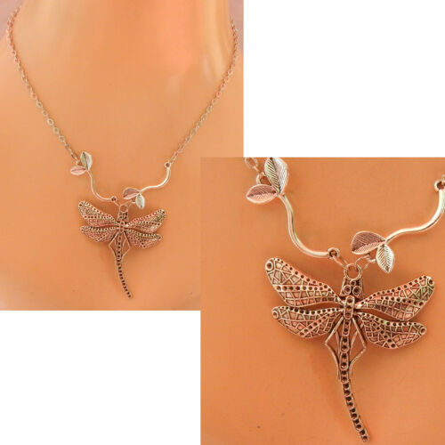 Dragonfly Necklace Pendant Silver Jewelry Handmade NEW Chain Women Fashion
