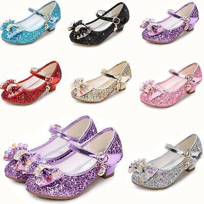 Kinder Mädchen Absatz Schuhe Hochzeit Abschlussball Prinzessin Bling Schuhe  ()