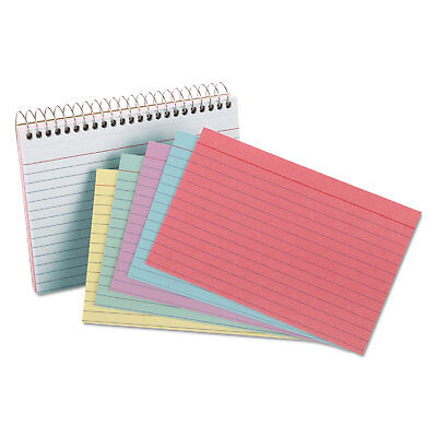 Oxford Spiral Index Cards 4 X 6 50 Cards Assorted Colors 40286