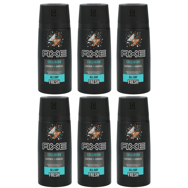 Axe Deo 6 x 150 ml diverse Sorten Deodorant Deospray - verschiedene Sorten Leather & Cookies