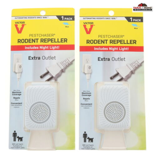 (2) Plug In Rodent Pest Repeller Night Light Outlet ~ New