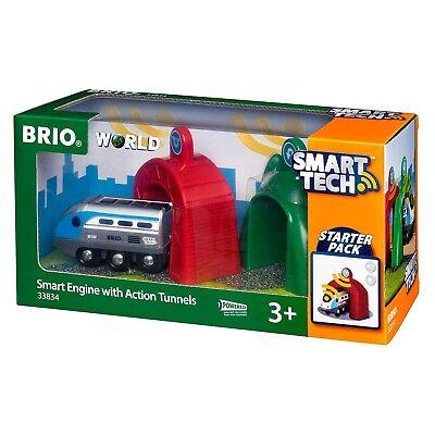 BRIO 33834 - Bahn - Smart Tech Zug mit Action Tunnels ()