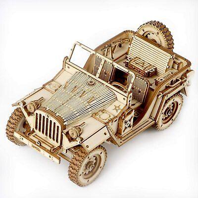 Robotime 3d Holz Puzzle Militär Jeep Modellbausatz Holzfahrzeug Auto Spielzeug
