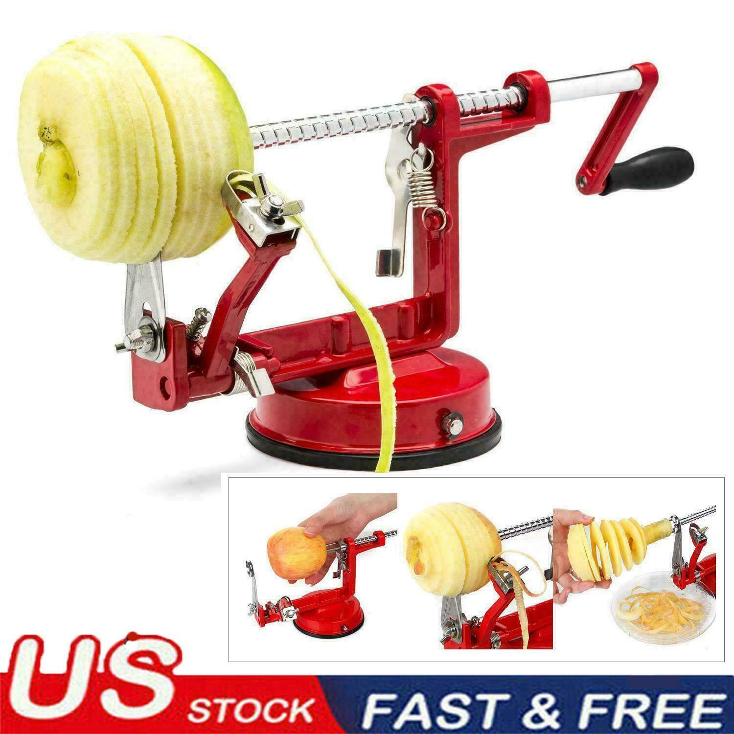 3 In 1 Apple Pear Peeler Slicer Corer Potato Cutter Parer Fr