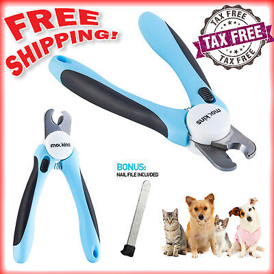 Dog Nail Clippers Trimmer With Safety Guard to Avoid Over-cutting Pet Cat Nails