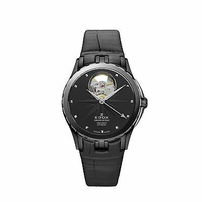 Edox 85012357NNIN Women's Grand Ocean black Automatic Watch