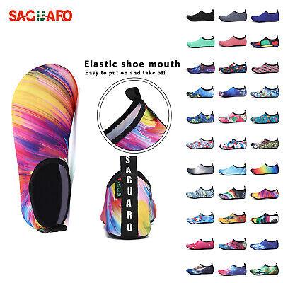 SAGUARO Mens Womens Water Skin Shoes Aqua Sport Socks Yoga Pool Beach Swim Surf ()
