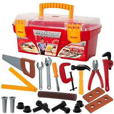 26-piece Tool Box Set with Removable Tool Tray - Great Gift