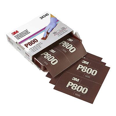 """3M™ 34340 Hookit™ Flexible Abrasive Sheet  P800 5.5"""" x 6.8"""" 25 sheets per Box"""
