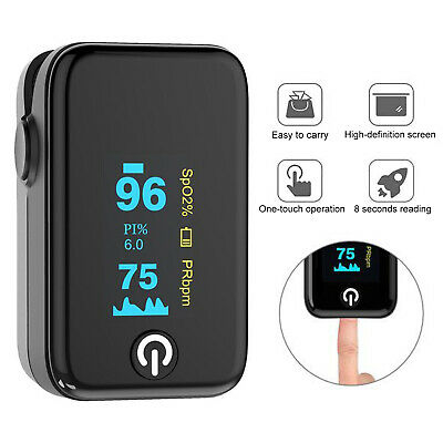 Pulse Oximeter Fingertip Blood Oxygen Meter Spo2 Pr Pi Heart Rate Monitor Ce