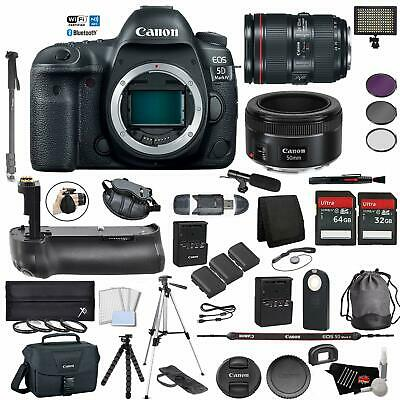 Canon EOS 5D Mark IV Digital SLR Camera +24-105mm f/4L II Lens Bundle +Canon EF