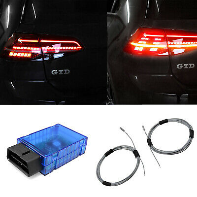 For Vw Golf 7 VII Original Kufatec Set LED Rear Lights with Dynamic Indicator
