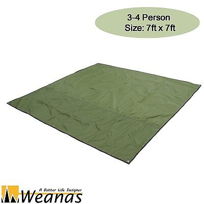 Weanas 3-4 Person Army Green Groundsheet Mat Camping Shelter Tent Tarp Canopy