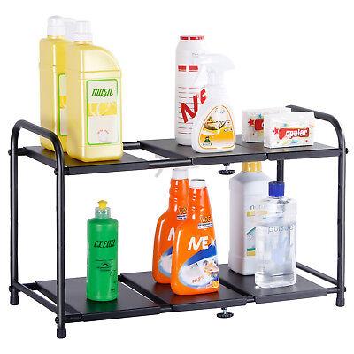 Lifewit Under Sink Organizer Cabinet Adjustable Kitchen Storage Counter Shelf