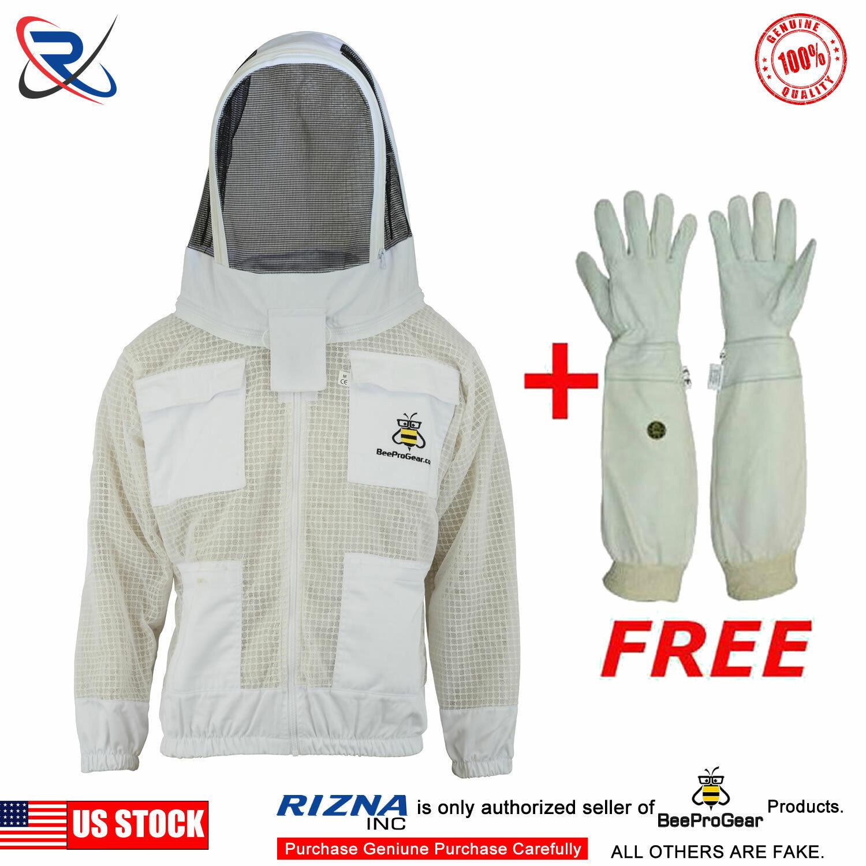 4XL Three Layer Bee Ultra Ventilated Beekeeper Beekeeping jacket Fencing Veil