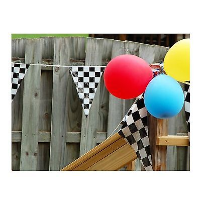 100ft Checkered Nascar Racing Birthday Party Pendant Flag Banner Decoration LOT