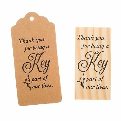 Favors For Weddings (Wooden Rubber Stamp for Tags, Wedding Guest Favors (Thank You)