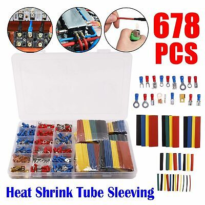 678x Electrical Cable Wire Connectors Assorted Insulated Crimp Terminals Spade O