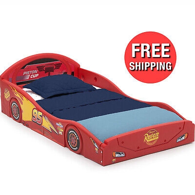 Boys Disney Pixar Cars Lightning McQueen Plastic Toddler Race Car Bed Kids Child Lightning Mcqueen Furniture